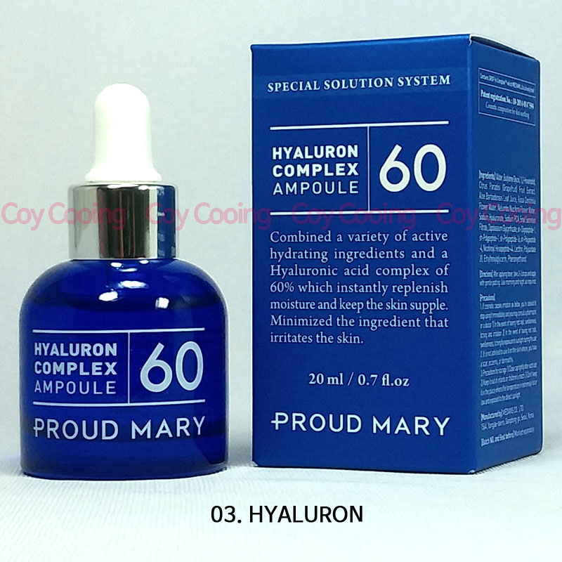 Proud Mary Patent HYALURON Complex Ampoule 20ml