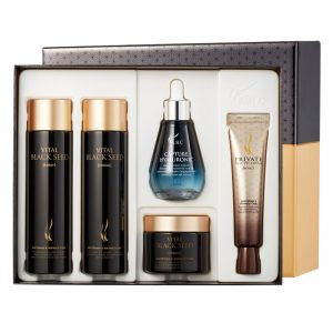 AHC Black Seed Special Skincare KIT (Toner 140ml + Lotion 140ml + Cream 50g + Eye Cream 30ml + Ampoule 50ml)