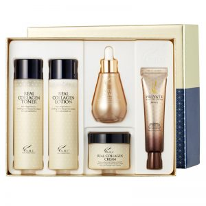 AHC Real Collagen Special Skincare Set (Toner 140ml + Lotion 140ml + Cream 50g + Eye Cream 30ml + Ampoule 50ml)