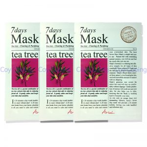 Ariul 7days Tea Tree Mask Clearing Purifying 3pcs
