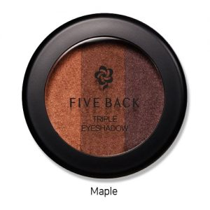Five Back Triple Eyeshadow 3.5g Maple