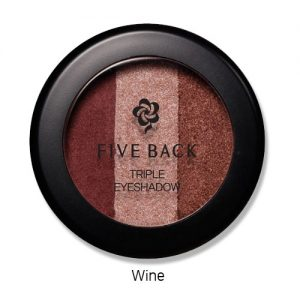 Five Back Triple Eyeshadow 3.5g Wine
