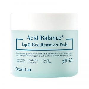 Brown Lab Acid Balance Lip & Eye Remover Pads 70sheets