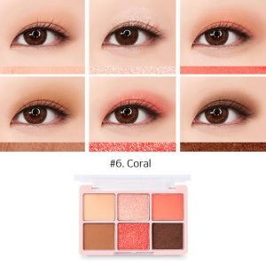 Chica Y Chico One Shot Eye Palette 9g #6.Coral