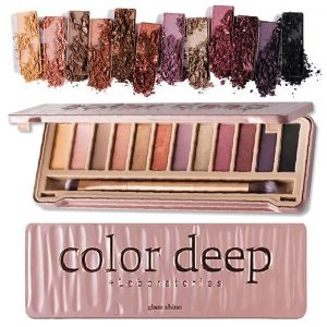 Color Deep Glam Shine Eyeshadow Palette 12 Color