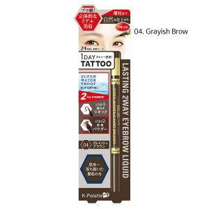 K-Palette 1Day Tattoo Lasting 2Way Eyebrow Liquid #4.Grayish Brown