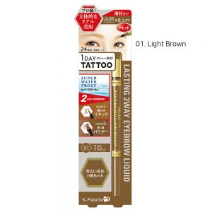 K-Palette 1Day Tattoo Lasting 2Way Eyebrow Liquid #1.Light Brown