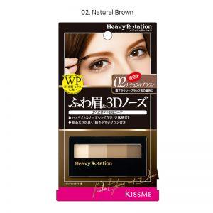 Kiss Me Heavy Rotation Powder & 3D Nose Shadow Eyebrow 3.5g 02. Natural Brown