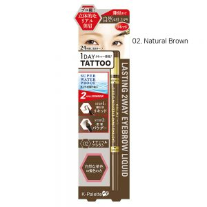 K-Palette 1Day Tattoo Lasting 2Way Eyebrow Liquid #2.Natural Brown