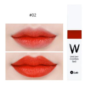 W.Lab Henna Tint 4.8g #02.BRAVE: Brighten up your face with orange red lips