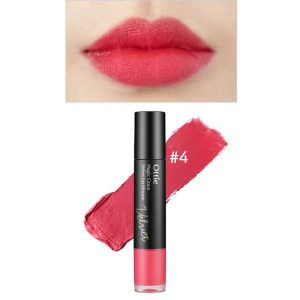Ottie Magic Grace Velvet Lip Mousse 7ml #04 Scarlet Pink