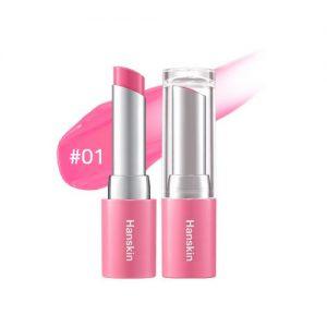 Hanskin Glam Moolon Tinted Lip Balm 4.5g #01 Soda Pink
