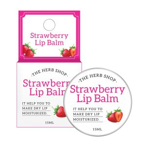 The Herb Shop Strawberry Lip Balm 15ml