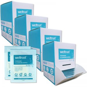 Wettrust Tea Tree Feminine Cleansing Wipes 25ea x 4Box