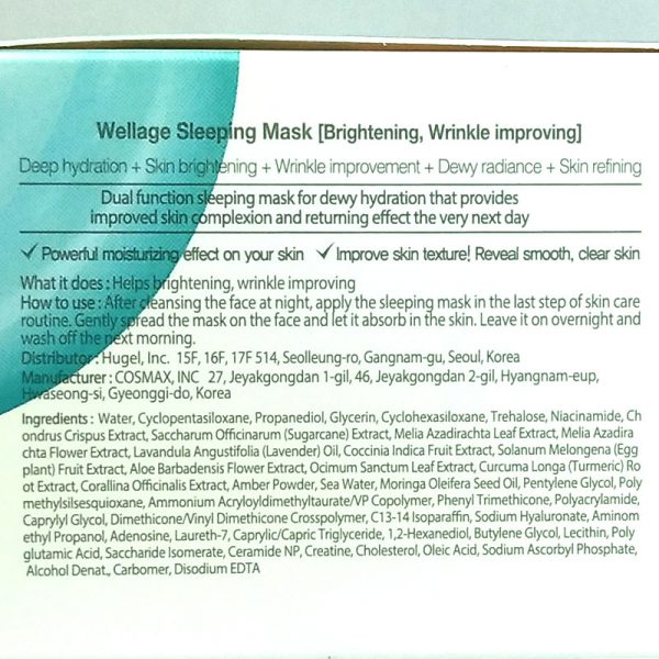 Wellage Sleeping Mask 80ml