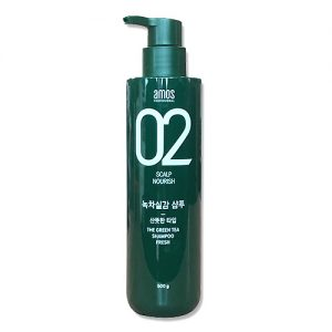 Amorepacific Amos Green Tea Shampoo 500g Oily Scalp Nourish