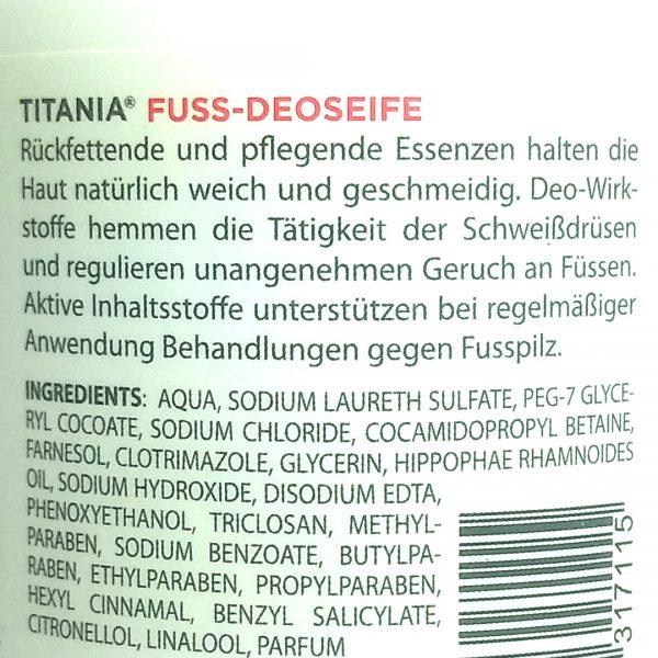TITANIA Foot Care 300ml Athlete's Foot Deodorant Soap