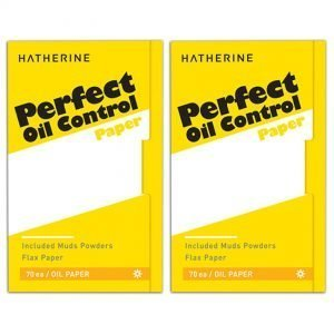 HATHERINE Perfect Oil Control Paper 2pack Muds Powders Flax