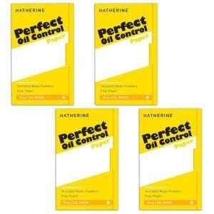 HATHERINE Perfect Oil Control Paper 4pack Muds Powders Flax