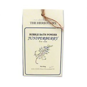 THE HERB STORY Aroma Bubble Bath Powder 80g JuniperBerry