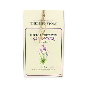 THE HERB STORY Aroma Bubble Bath Powder 80g Lavender