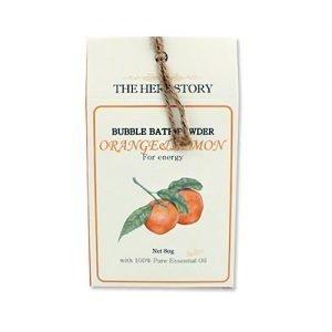 THE HERB STORY Aroma Bubble Bath Powder 80g Orange&Lemon