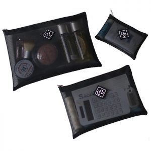 Funnymade Mesh Zip Makeup Pouch (3p in 1set)