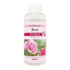 THE HERB SHOP Bath & Massage Salt 200g Rose
