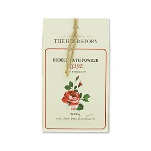 THE HERB STORY Aroma Bubble Bath Powder 80g Rose