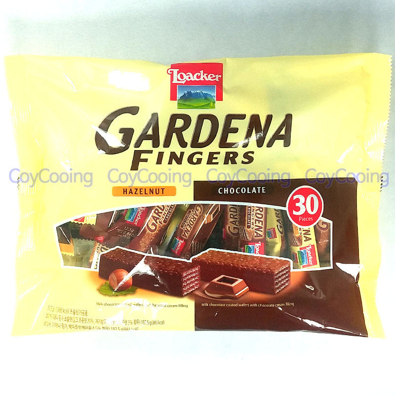 Loacker Gardena Fingers Mix 375g Chocolate Hazelnut