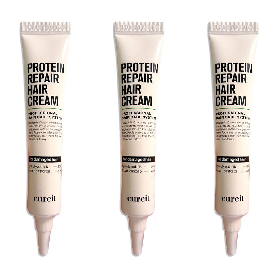 Cureit Protein Repair Hair Cream 20ml x 3pcs