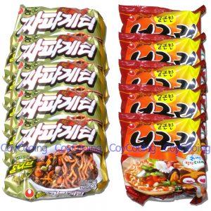 NONGSHIM Instant Noodles Ramdong Chapaghetti 5p Neoguri 5p