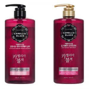 LG Elastine Camellia Black Intensive Damage Deep Repair 1000ml Shampoo Treatment