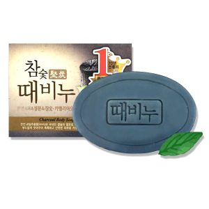 MUGUNGHWA Charcoal Body Scrub Exfoliating Soap 100g
