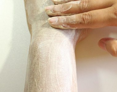 Exfoliating the body for bright elbows and knees